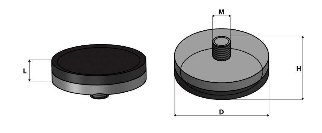 base magnética de nylon